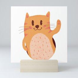 smiling cat Mini Art Print