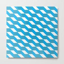 Geometric pattern #blue01 Metal Print