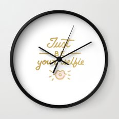 Just be your selfie  Wall Clock