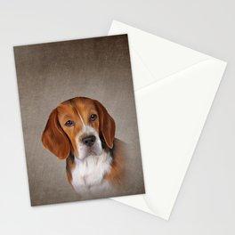 Drawing Dog Beagle 3 Stationery Cards