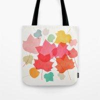 camus Tote Bags featuring tulipifera 1 by Garima Dhawan
