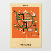 india Canvas Prints featuring India by federico babina