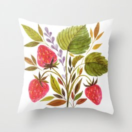 Early Summer Strawberries Are The Sweetest Throw Pillow