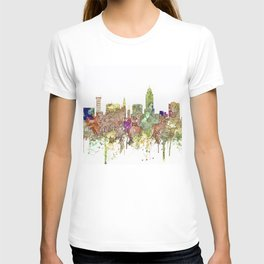 Lincoln, Nebraska Skyline - Faded Glory T-shirt