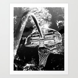 Black And White Basketball Art Art Print