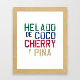 HELADO DE COCO Framed Art Print