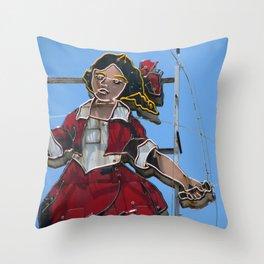 Skipping Girl Throw Pillow