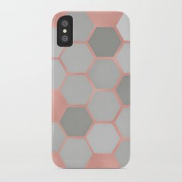 Honeycomb on Rose Gold iPhone Case