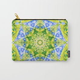 Mandala Peacock tail Carry-All Pouch