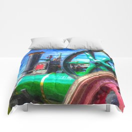 Clayton and Shuttleworth Traction Engine Art Comforters