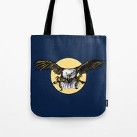 eagle Tote Bags featuring Eagle by Anna Shell