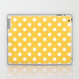 Polka Dots (White & Orange Pattern) Laptop & iPad Skin