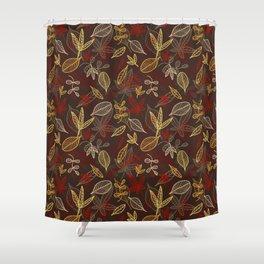Autumn_brown Shower Curtain