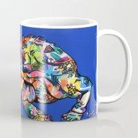 iggy Mugs featuring Sunset Park Iggy by The Art of Murjani Holmes