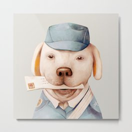 Delivery Dog Metal Print
