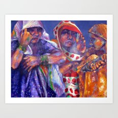 Three Cloth Sellers Art Print