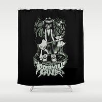 jojo Shower Curtains featuring Doomyland by Doomyland