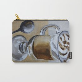 Coffee latte, original oil painting, art Carry-All Pouch
