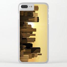 Sunrise-sunset city panorama Clear iPhone Case