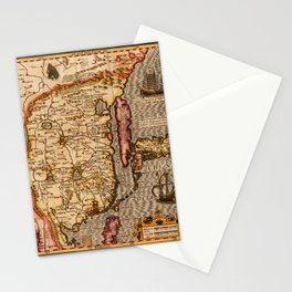 Map Of China 1606 Stationery Cards