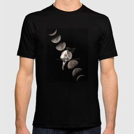 Moon Phases with Vintage Witch T-shirt