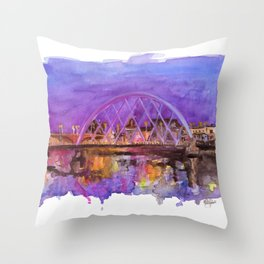 Glasgow Sunset Throw Pillow