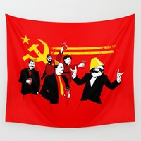 politics Wall Tapestries featuring The Communist Party (original) by Tom Burns