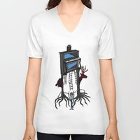 piano V-neck T-shirts featuring piano by JBLITTLEMONSTERS