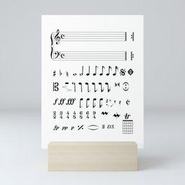 Musical Notation Mini Art Print