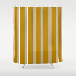 Mustard yellow Nude stripes Shower Curtain