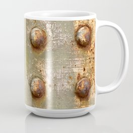 background with steel rivets Coffee Mug