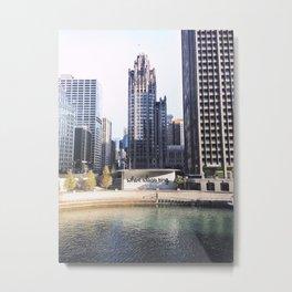 Where Ideas Sing, Chicago Metal Print