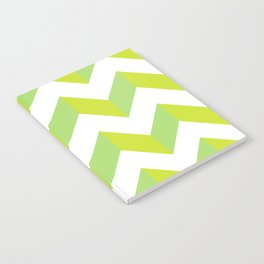 green pattern geometric Notebook