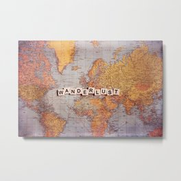 wanderlust map Metal Print