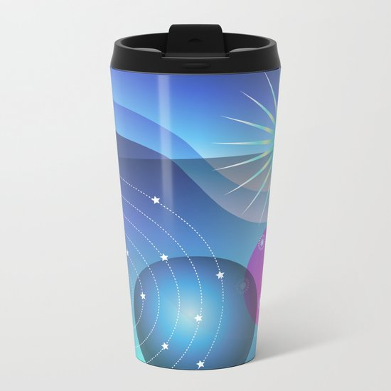 Planetary Party Metal Travel Mug
