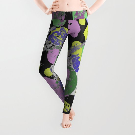 Crazy Paving - Abstract, textured, pastel coloured artwork Leggings