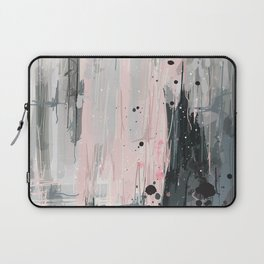 Soft Pink Abstract Laptop Sleeve