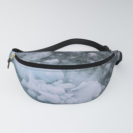 Ice And Snow Abstract Art By Nature Fanny Pack