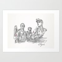 ghostbusters Art Prints featuring Ghostbusters. by AmyLianneMuir