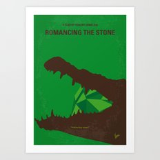 No732 My Romancing the Stone minimal movie poster Art Print