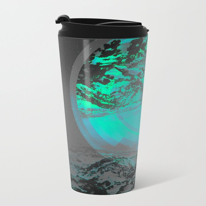 Neither Up Nor Down II Metal Travel Mug