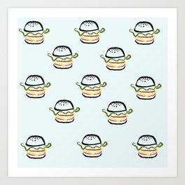 Burger Bonanza Art Print