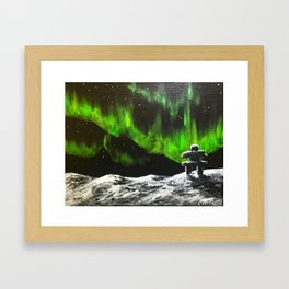 On the right path Framed Art Print