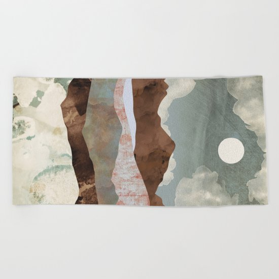 Cloudy Night Beach Towel