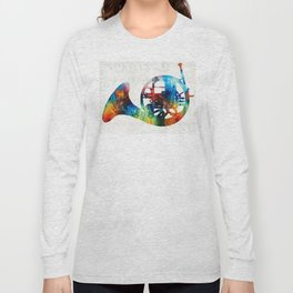 Colorful French Horn - Color Fusion By Sharon Cummings Long Sleeve T-shirt