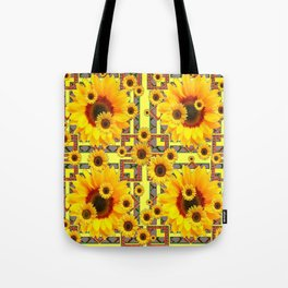 KANSAS WESTERN STYLE YELLOW SUNFLOWER FLORAL Tote Bag