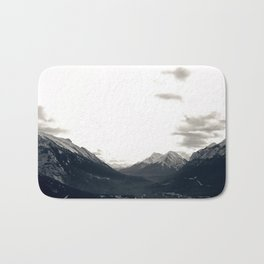 Grey Skies and Sunrise over Snow-Capped Mountains 03 Bath Mat