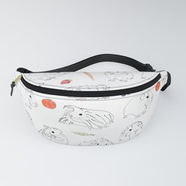 Guinea Pigs and Vegetables Fanny Pack