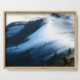 Jura Mountains Switzerland - Sea of Fog Serving Tray