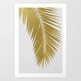 Palm Leaf Gold I Art Print